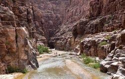 Wadi Mujib Royalty-vrije Stock Afbeelding