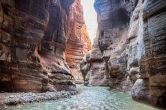 Wadi Mujib Fotos de archivo libres de regalías