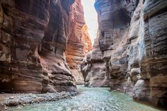 Wadi Mujib Zdjęcia Royalty Free