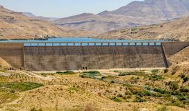 Wadi Mujib Dam Jordan, szenische Standorte in Jordanien stockfotos