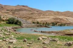 Wadi Mujib Dam Jordan, szenische Standorte in Jordanien lizenzfreies stockfoto