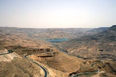 The Wadi Mujib in Jordan Stock Photography