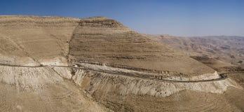 Wadi Mujib södra Jordanien Arkivbilder