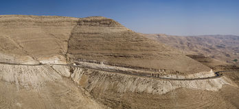 Wadi Mujib, Süd-Jordanien Stockbilder