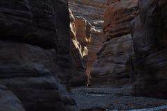 Wadi Numeira Canyon em Jordânia Imagem de Stock Royalty Free