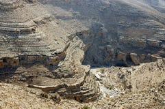 Wadi Og landscape in Judea desert. Royalty Free Stock Images