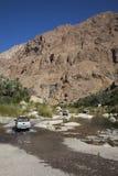 Wadi in Oman Stock Afbeelding