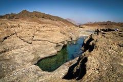 Wadi in Oman Stock Afbeeldingen