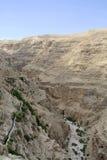 Wadi Qelt aqueduct near Jericho. Royalty Free Stock Photography