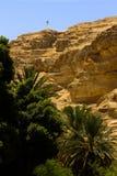 Wadi Qelt, désert de Judean Photos stock