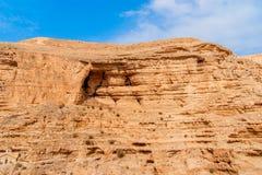 Wadi Qelt in Judean desert around St. George Orthodox Monastery Stock Photography