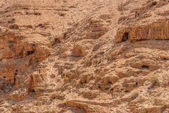 Wadi Qelt in Judean desert around St. George Orthodox Monastery Royalty Free Stock Photography