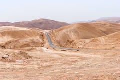 Wadi Qelt in Judean desert around St. George Orthodox Monastery Royalty Free Stock Photos