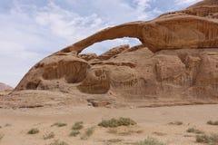 Wadi Ram. Desert with interesting stone formations Stock Photos