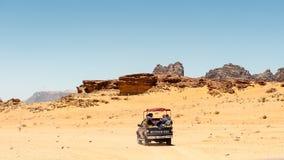 Wadi Ram-woestijn, Jordanië royalty-vrije stock foto's