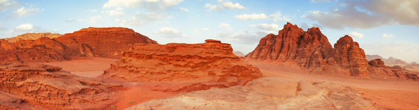 Wadi Rum öken, Jordanien Royaltyfria Bilder