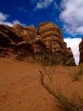 Wadi rum. Beautiful view of the wadi rum in jordan Stock Photos