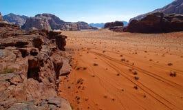 Wadi rum. Beautiful view of the wadi rum in jordan Royalty Free Stock Photo