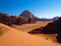 Wadi rum. Beautiful view of the wadi rum in jordan Royalty Free Stock Image
