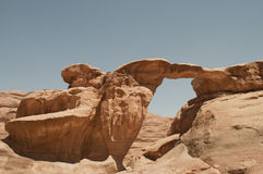 Wadi Rum. Natural bridge in Wadi Rum,Jordan Stock Photo