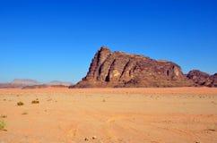 Wadi Rum. Seven Pillars of Wisdom in Wadi Rum,Jordan Stock Images