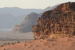Wadi rum. A very beautiful place located in Jordan, 120 km south of Petra, distinguished site royalty free stock photo