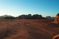 Wadi Rum dalen av månen, Aqaba, Jordanien, Mellanösten Fotografering för Bildbyråer