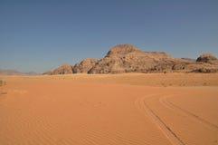 Wadi Rum desert. Wadi Rum stone desert, Jordan, Middle East Royalty Free Stock Images