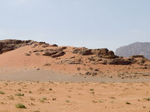 Wadi Rum desert Stock Photo