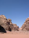 Wadi rum desert. At jordan royalty free stock photography