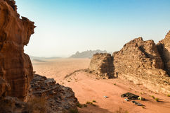 Wadi Rum Desert Royaltyfri Foto