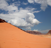 Wadi Rum Desert also known as The Valley of the Moon Stock Photography