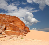Wadi Rum Desert also known as The Valley of the Moon, Jordan Royalty Free Stock Photo