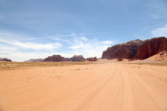 Wadi Rum Desert also known as The Valley of the Moon, southern Jordan Royalty Free Stock Image