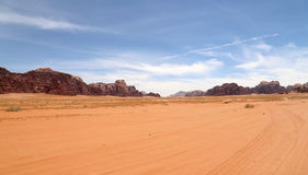 Wadi Rum Desert also known as The Valley of the Moon, southern Jordan Royalty Free Stock Images