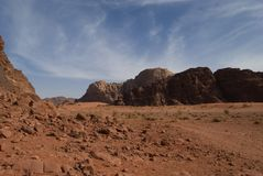 Wadi Rum Desert Jordan Royalty Free Stock Photos