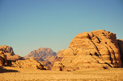 Wadi Rum desert, Jordan. Scenic view during safari in Wadi Rum desert Royalty Free Stock Photography