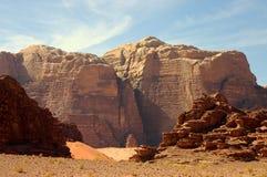 Wadi Rum desert, Jordan. Scenic view during safari in Wadi Rum desert Stock Photos