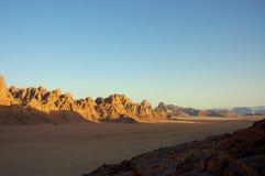 Wadi Rum desert, Jordan. Scenic view during mountain climb in Wadi Rum desert Royalty Free Stock Image