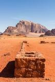 Wadi Rum desert  in Jordan. Royalty Free Stock Photo