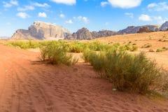 Wadi Rum desert in Jordan Stock Photos