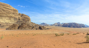 Wadi Rum desert in Jordan Stock Photography