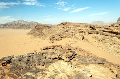 Wadi Rum desert Royalty Free Stock Photos