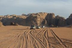 Wadi Rum Desert, Jordan Travel, Jeep Tour fotografia stock libera da diritti