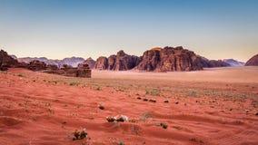 Wadi Rum desert  in Jordan. Royalty Free Stock Photography