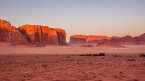 Wadi Rum desert  in Jordan. Stock Image