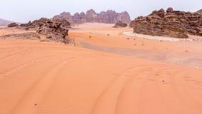 Wadi rum desert in Jordan Stock Images