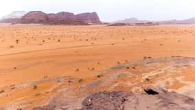 Wadi rum desert in Jordan Royalty Free Stock Photo