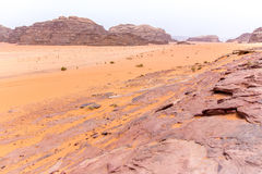 Wadi rum desert in Jordan Royalty Free Stock Images