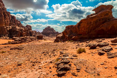 Wadi Rum desert landscape,Jordan Royalty Free Stock Images